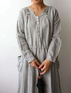 gray loose dress