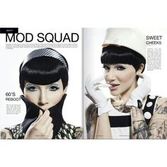 Mod Squad beauty editorial with photographer Samantha Hylla. Model is Clara Rae. Makeup and Hair by Andrea C. Samuels