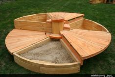 Three sandboxes for three boys! Click on the image to see what it looks like closed (the lids are hinged)....(c) A Place Imagined