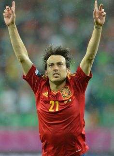 David Silva   'La Roja'.  GABRIEL BOUYS (AFP)