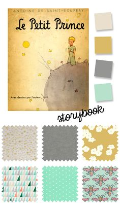 "A color palette inspired by ""The Little Prince"" book cover for the optional storybook theme for Kids Clothes Week."