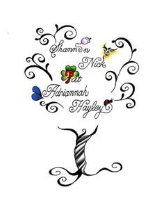 tattoo of my family tree kids and grandkids symbols within their names do have - Design Names Ideas