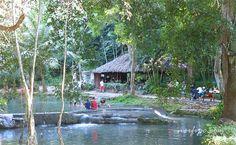 Área de baño en el rio que corre en los Jardines de Hershey