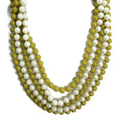 Multi Strand Pearl Necklace Layered Pearl by HeidisTreasureChest