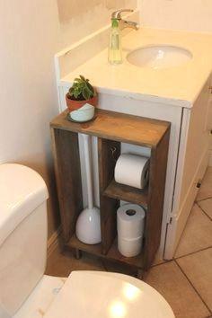 Diy rustic bathroom ideas simple rustic home decor ideas rustic diy small bathroom . Bathroom Organization, Bathroom Storage, Organization Ideas, Bathroom Shelves, Vanity Shelves, Organizing Drawers, Toilet Storage, Sink Shelf, Bath Shelf