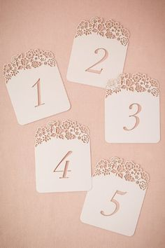 Hilltop Table Number Cards (5)