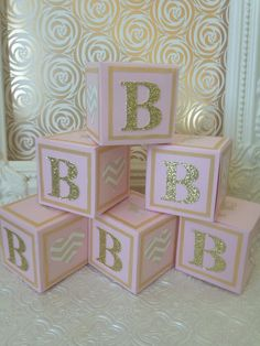 custom alphabet blocks baby showers decorations