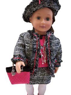 Nicci Vale Design Studio: A Tweedy Coco Suit for American Girl Dolls