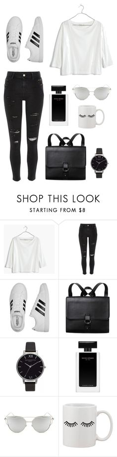 """#45 Casually Lovely"" by jocelynleebold ❤ liked on Polyvore featuring Madewell, River Island, adidas, Monki, Olivia Burton and Chicnova Fashion"