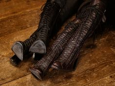 Demeulemeester triple lace boots