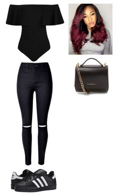 """Outfit for Wednesday"" by mayawhite04 on Polyvore featuring Boohoo, adidas Originals and Givenchy"