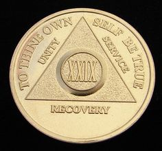24K Gold Plated Alcoholics Anonymous 29 Year Medallion Coin Token Chip | eBay