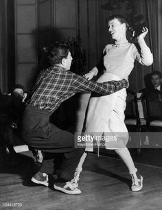 A Young Couple Doing A Demonstration Of The Be-Bop Or The Jitterbug, In England Around 1955.