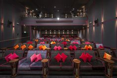 Luxury Movie Theater, At Home Movie Theater, Cinema Theatre, Home Theater Seating, Miami Beach, Cinema Architecture, Home Cinema Room, House Flippers, Building Layout
