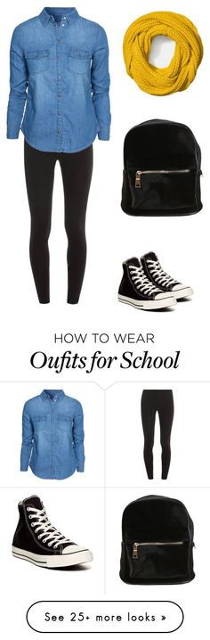 """school"" by paigegrohh on Polyvore featuring moda, Splendid, New Look, Converse e Coach"