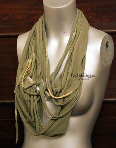 Sheer jersey multi loop circle scarf - KA146. $40.00, via Etsy.