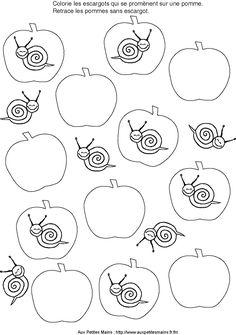 Maternelle fichier multiactivites escargot automne escargot maternelle escargot et elevage - Escargot maternelle ...