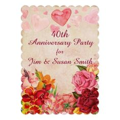 Victorian Steampunk Flowers Hearts Anniversary Card - wedding invitations cards custom invitation card design marriage party