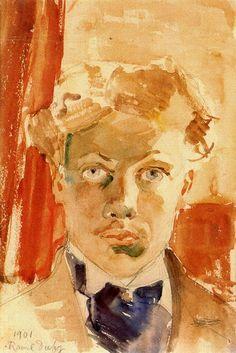 Self-Portrait, 1901-Raoul Dufy - by style - Impressionism