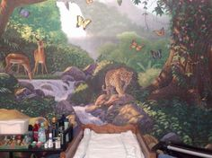 I will paint a jungle landscape in my art room!