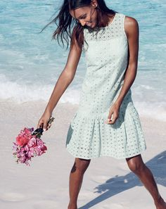J.Crew women's Anna dress in organza eyelet. To preorder call 800 261 7422 or email verypersonalstylist@jcrew.com.