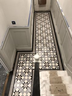 Victorian tiles are an elegant and original feature that will add value to your property. Victorian mosaic tiles supplay and installation Victorian Hallway Tiles, Victorian Mosaic Tile, Tiled Hallway, Victorian Pattern, Tiling, Mosaic Tiles, Hall Flooring, Metal Railings