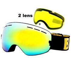 26.38$  Buy now - http://aliel7.shopchina.info/go.php?t=32747897891 - Anti-fog Ski Goggles UV400 Ski Glasses Double Lens Skiing Snowboard Snow Goggles Ski Eyewear With One Brightening Lens 26.38$ #buymethat