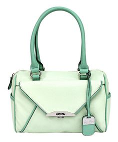 Another great find on #zulily! Mint Paula Satchel by Jessica Simpson Collection #zulilyfinds