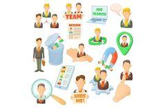Human resource icons set. Human Icons. $5.00