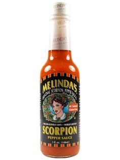 Melinda's Scorpion Pepper Hot Sauce is one of the HOTTEST all-natural hot sauces you can buy. No pepper extract is added; all the heat comes naturally from ultra-hot Trinidad Moruga Scorpion peppers, which are blended in a traditional Caribbean base of lime juice, vinegar, carrots & spices. Buy on sale for $8.45: http://www.carolinasauces.com/Melinda_s_NEW_Scorpion_Pepper_Sauce_p/1086.htm