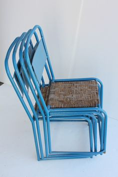 Mid Century Metal Bistro Chairs | From a unique collection of antique and modern chairs at http://www.1stdibs.com/seating/chairs/