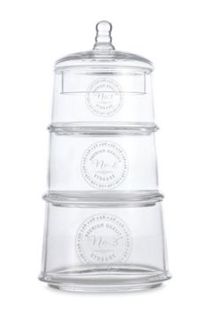 Buy Set Of 3 Glass Storage Jars from the Next UK online shop Glass Storage Jars, Jar Storage, Bathroom Accessories Sets, Home Accessories, Buy Kitchen, Next Uk, Uk Online, Stuff To Buy, Shopping