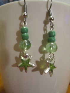 Items similar to Tween Green Glass Bead Hypo-Allergenic Earrings with Star Charm on Etsy Christmas Gifts For Girls, Birthday Gifts For Girls, Star Jewelry, Unique Jewelry, Diy Jewelry, Diy For Girls, Creative Gifts, Girl Gifts, Tween