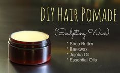 Hair Pomade Recipe (Sculpting Wax) / http://www.mommypotamus.com/diy-hair-pomade-sculpting-wax/
