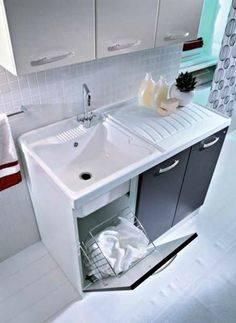 Soluzioni lavanderia integrate #design #bathroom #home #furniture