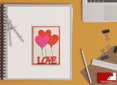 """""""Love CardHeart Balloon"""" Con questo biglietto d'auguri, ideale per diverse occasioni, doni un tocco unico ad ogni regalo.  Ogni biglietto, realizzato interamente a mano, è unico nel suo genere. La confezione è composta da: 1 biglietto d'auguri """"I LOVE YOU"""", adatto per i tuoi momenti speciali:  15 x 10 cm (6"""" x 4"""") + busta bianca 16 x 10,5 cm  (6,3"""" x 4,1"""")"""