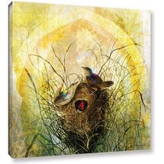 ArtWall Elena Ray Making A Home Together Gallery-wrapped Canvas, Size: 18 x 18, Red