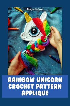 Crochet Unicorn Pattern, Crochet Patterns Amigurumi, Crochet Hats, Double Crochet, Single Crochet, My Little Pony Plush, Baby Girl Patterns, Rainbow Unicorn, Sewing Basics