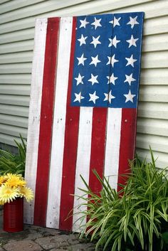 Painted American Flag DIY from Pallet Boards