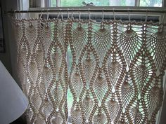Crochet table cloth turned window drapes? Yes