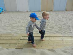 Domburg aan het strand