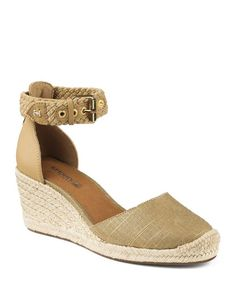 56f9fda83269 Sperry Espadrille Wedge Sandals - Valencia Closed Toe Metallic Shoes -  Bloomingdale s