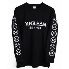 Yung Lean Long Sleeve T-shirt (Small) ❤ liked on Polyvore featuring tops, t-shirts, long sleeve t shirt, long sleeve tee, longsleeve t shirts, longsleeve tee and long sleeve tops