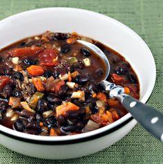 Vegan sweet and sassy black bean soup recipe