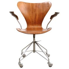 arne jacobsen office chair. teak sevener office chair by arne jacobsen