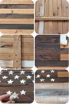 DIY Planked American Flag=Success '16