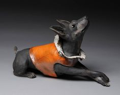 Artist: Ronnie Gould, Title: Mini Pinscher