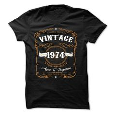 VINTAGE 1974 Aged To Perfection T Shirts, Hoodies. Check price ==► https://www.sunfrog.com/Birth-Years/VINTAGE-1974-Aged-To-Perfection-36680129-Guys.html?41382 $23