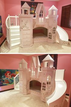 Girls Bunk Beds with Slide . Girls Bunk Beds with Slide . Kids Room for Our Tiny House I Love the Semiprivate Girls Bunk Beds, Bed For Girls Room, Loft Bunk Beds, Modern Bunk Beds, Kid Beds, Girl Room, Kids Bedroom, Little Girl Beds, Bedroom Ideas