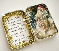 Santa Altoid tin <> (Christmas, craft)